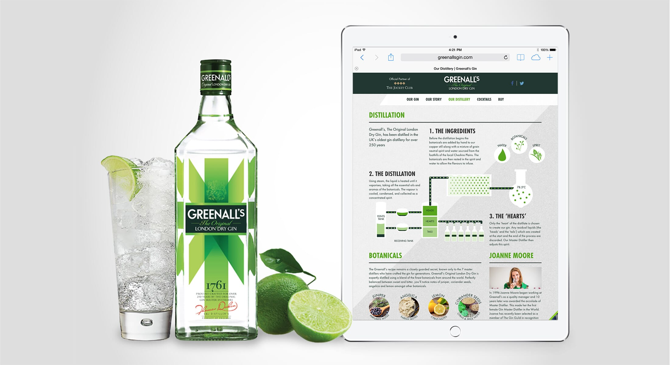 Greenall's Gin Responsive Web Design Case Study London